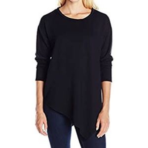 Soft Joie Asymmetrical Sweatshirt Black